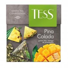 Чай зеленый в пирамидках Tess Pina Colada (Тесс Пина Колада), 20*1,8 г