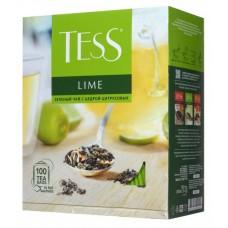 Чай зеленый в пакетиках для чашки Tess Lime (Тесс Лайм), 100*1,5 г